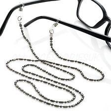Girls Black Eye Glasses Chain Strap Lanyard Spectacles Holder Ladies