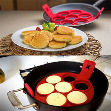 Silicone Pancake Pan Flip Egg Ring Breakfast Maker Omelette Flipjack Tools