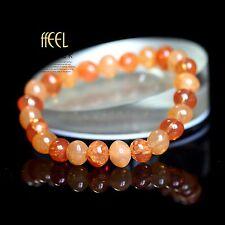 Bracelet Elastique Un Rang Perle Verre Ovale Ambré Vintage CT7