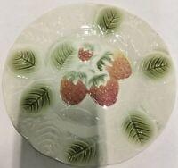 Majolica Salins les Bains Pottery-Set Of 4 Salad/Dessert Plates