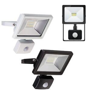 LED Fluter mit Bewegungsmelder 230V IP44 Fluchtlicht-Strahler für Außen Lampe