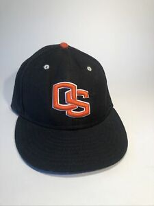Oregon State University Beavers Black Wool Baseball Cap New Era 7 3/8""