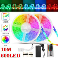 2835 RGB LED Strip Lights Waterproof IP65 1m-30m 12V 44key IR Controller Adapter