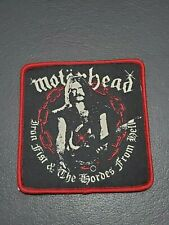 Motorhead Lemmy patch iron fist & the hordes from hell Iron on Clothing Badge
