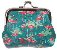 Fun Tic Tac Flamingo Coin Purse Ladies Girls Great Gift Fashionable Novelty Item
