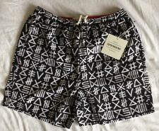 """SUPREMEBEING Swimshorts """"SALTY"""" Black Large RRP £45"""