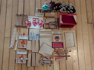 Wooden Gollnest & Kiesel Goki Medieval Castle with Dolls Disassembled For Parts
