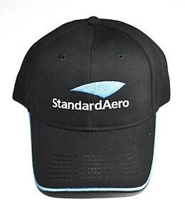 Standard Aero Black and Blue Hat Baseball Cap Adult Adjustable Strap Back