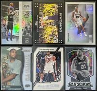 Lot of (6) Tim Duncan, Including Winner Stays Holo, Top Status, Mosaic/Prizm