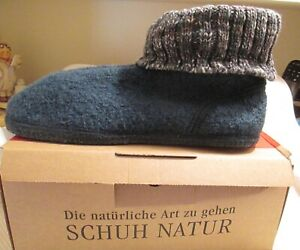 HAFLINGER 'AS Misty' Teal Wool Bootie Slippers US 11 / EU 42 - BRAND NEW IN BOX!