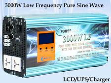 3000W LF Split Phase PSW 12V DC/110V,220V AC 60Hz Power Inverter LCD/UPS/Charger