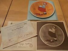 "Vintage 80's Xmas Norman Rockwell ""Scotty Plays Santa"" Plate Coa In Original Box"