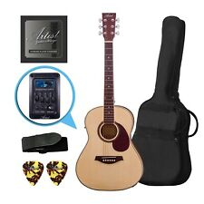 Factory 2nd Artist LSP34EQ 3/4 Sized Beginner Acoustic Guitar Pack with EQ - Nat