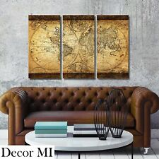 Vintage world map home dcor posters prints ebay decor mi vintage world map canvas wall art prints stretched framed ready to hang gumiabroncs Image collections