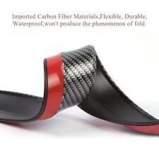 2.5M PU Carbon Fiber Front Bumper Lip Splitter Chin Spoiler Trim For Chevrolet
