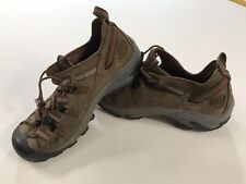 MEN'S MISMATCHED KEEN LF 8 RT 7 BROWN LEATHER HIKING SHOES EUC