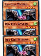 Red-Eyes Wyvern SR02-EN010 1st  X 3 Mint  YUGIOH