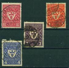 (DR03a) Deutsches Reich 1922, Michel Nr. 199-202, gestempelt,