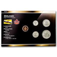 2004-5 Brunei 1 - 50 Sen 5-Coin Set BU - SKU #50982