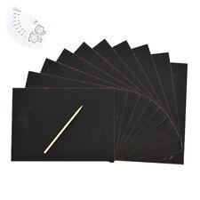 10 feuilles Magic Scratch art papier Coloriage grattage dessin avec bâton