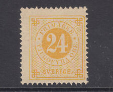 Sweden Sc 34a MNG. 1883 24ö lemon yellow Numeral, scarce