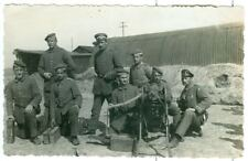 German Soldiers with MG08 machine gun , WW1, Original Photo Post Card