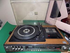SANYO Vintage Stereo Music System 1970s Turntable Cassette Tuner JXT4404K Japan