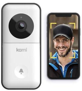 Kami Video Doorbell, Wireless Smart Doorbell Camera WiFi HD, Night Vision