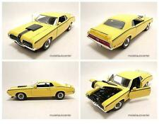 Mercury Cougar Eliminator 1970 yellow, Model car 1:18 / Welly