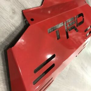 TRD BASH PLATE COVER - RED -  SUITS TOYOTA HILUX REVO N80 2015+