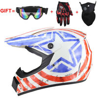 White Star Motorcross Motor Dirt Bike ATV Off Road MTB Motorcycle Helmet Racing