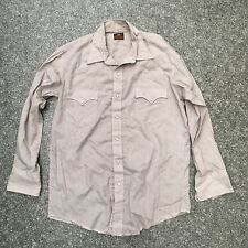 Vintage Moda Occidental Camisa Peal Snap vaquero grande (DP224)