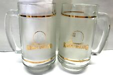 LOT Paramount Kings Island Gold GLASS BEER MUGS Bar Drink Glasses Ohio Souvenir