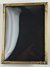 Bezaubernder Jugendstil-Metallrahmen, Messing, gewölbtes Glas,12x16 cm. (E8)