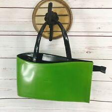 VERA PELLE Green Genuine Leather Teardrop Purse Handbag Bag DANIELA MODA ITALY