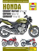 Haynes Manual 5572 Honda CBF600S CBF600SA CBR600F CBR600FA Hornet 2008-2012 NEW