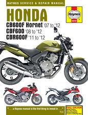 Haynes Manual 5572 Honda CB600F CB600FA CBF600N CBF600NA Hornet 2007-2012 NEW