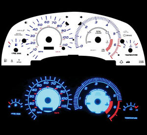 00 01 02 Saturn SOHC Blue Indiglo Glow White Gauge