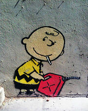 Banksy Charlie Brown street art on Canvas ACEO giclee Print graffiti Venne