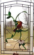 """3 Song Bird Leaded Stained Glass Windows 33""""h X 24""""w $1950"""