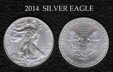 2014 U.S.SILVER EAGLE .999 FINE SILVER AMERICAN BULLION GEM UNCIRCULATED BEAUTY