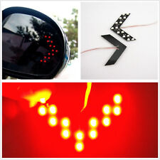 2 Pcs Red Double Arrow Panel 14-SMD Car Rear View Mirror Turning Light For Honda