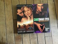 2 Vhs Movies. Nicolas Cage. Snake Eyes and City of Angels.