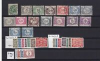 BELGIUM POSTAGE DUES MOUNTED MINT AND USED  STAMPS 1928 /29  REF R 2840