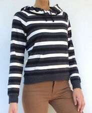 Cotton Hooded Striped Jumpers & Cardigans for Women