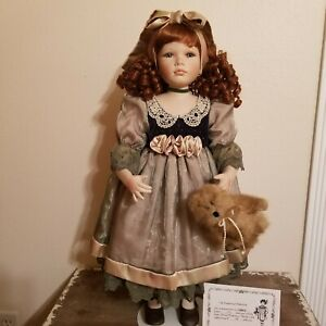 """Delton Products Victorian 25"""" Porcelain Doll """"Reese"""" New 88/2000 COA"""