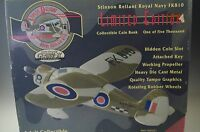 GEARBOX STIMSON RELIANT ROYAL NAVY PLANE FK810 COIN BANK DIE CAST L.E. 1 OF 5000