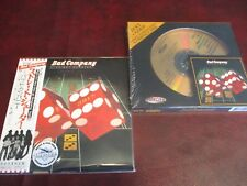 BAD COMPANY 24 KARAT GOLD  STRAIGHT SHOOTER HDCD MASTERED + JAPAN REPLICA CD SET