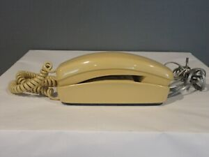 Vintage Stromberg Carlson Trimline Yellow Rotary Desk Wall Phone (10213)