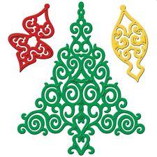 SPELLBINDERS SHAPEABILITIES 2012 CHRISTMAS TREE CUTTING DIE NEW UNIVERSAL FIT